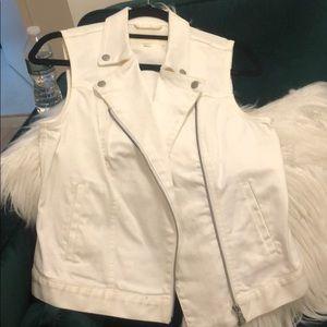 Vince Camuto white denim vest